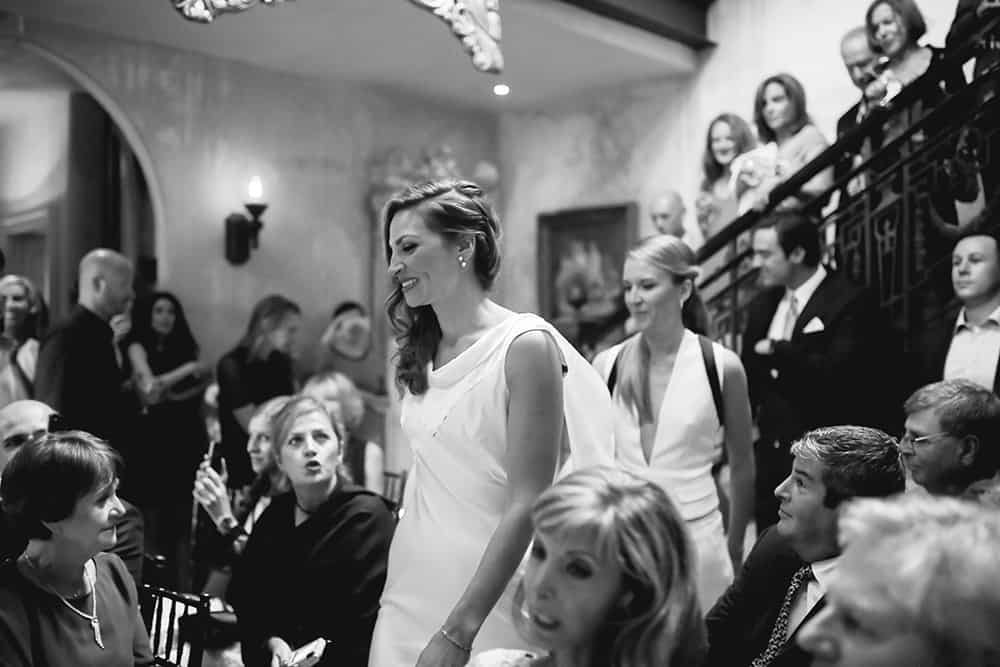 wedding ceremony at 632 on Hudson
