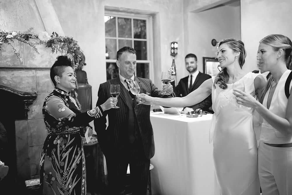 wedding reception at 632 on Hudson