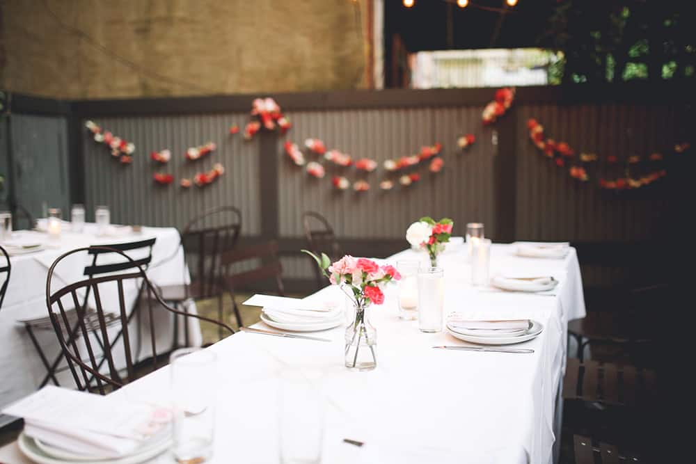 boho wedding in brooklyn brownstone