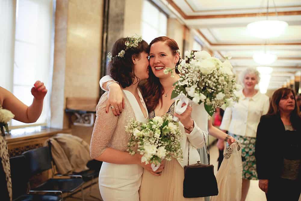 same sex new york city hall elopement