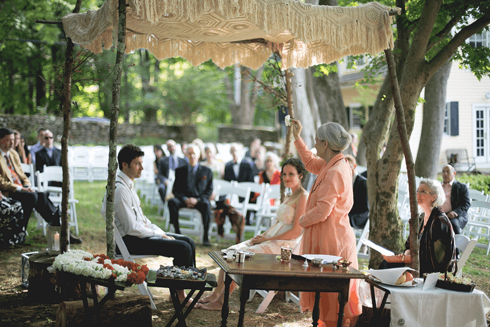 quirky backyard wedding