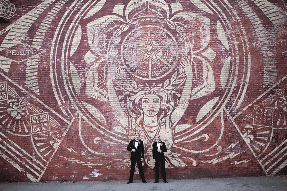 hip wedding at the Dumbo Loft