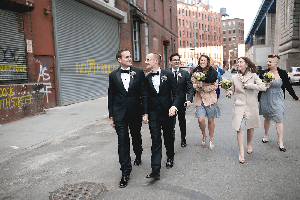 hip wedding at the Dumbo Loft