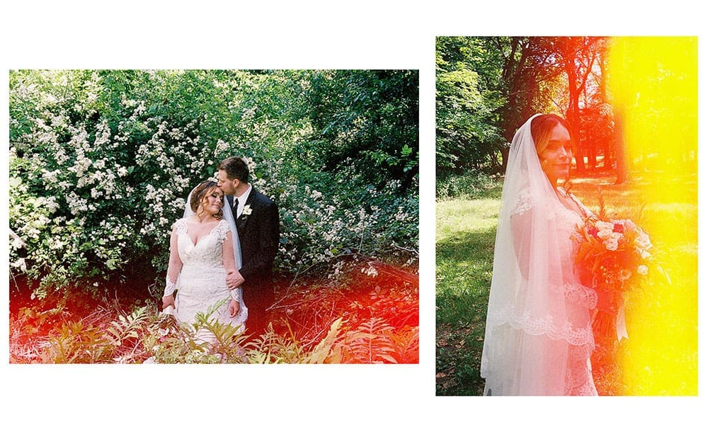 film photography for wedding