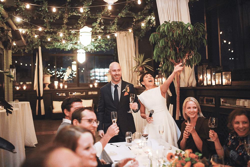 fun wedding reception shot