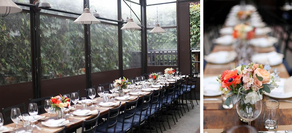 tablescape at aurora brooklyn