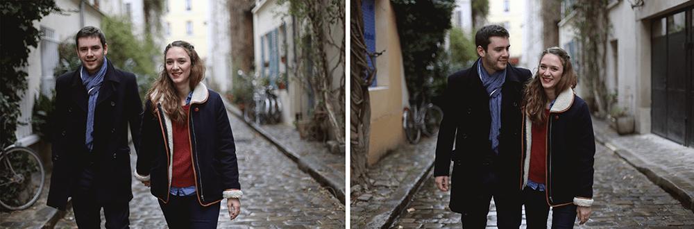 casual engagement shoot in paris