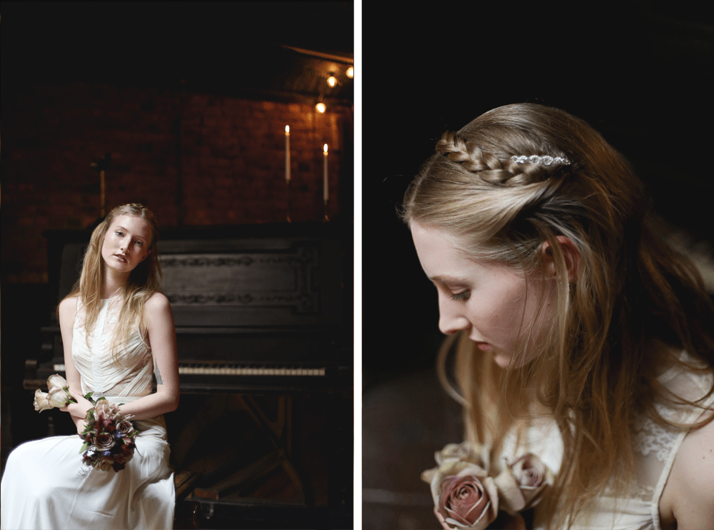 bridal styled shoot in brooklyn