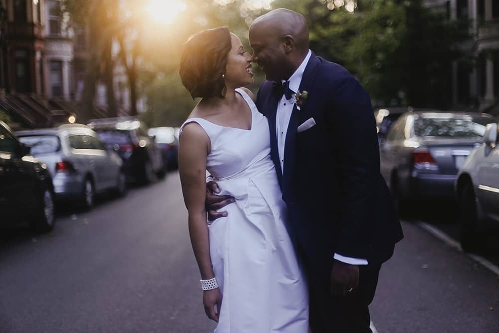 brooklyn society for ethical culture wedding golden hour