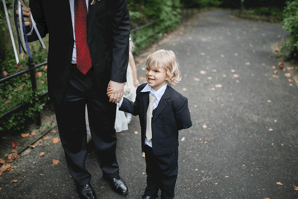 rainy central park wedding