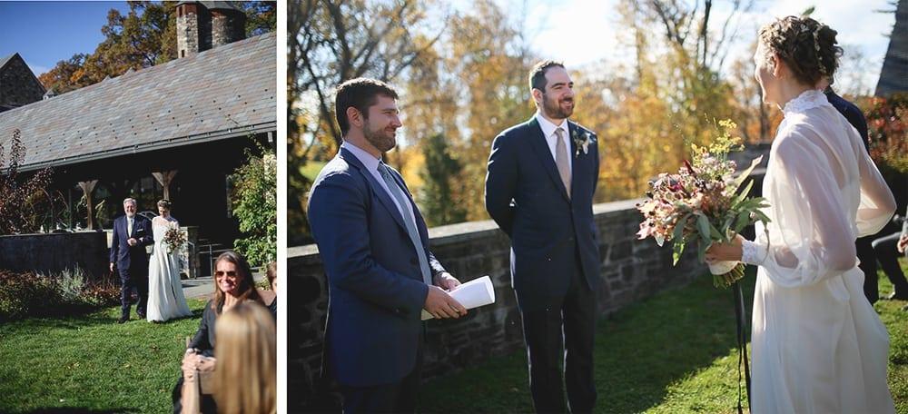 Wedding Ceremony at Blue Hill Farm