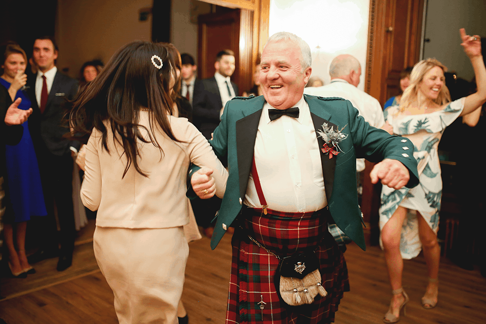 Ceilidh dance Edinburgh wedding