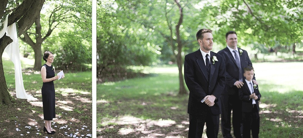 Monmouth Battlefied State Park wedding ceremony