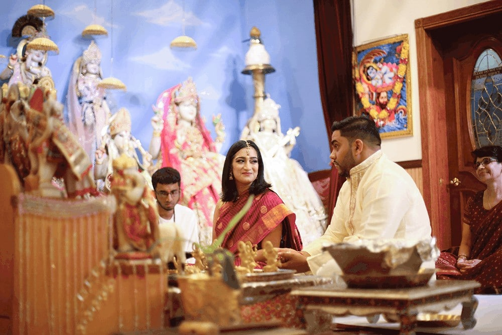 Indian Ceremony at a minder in New York