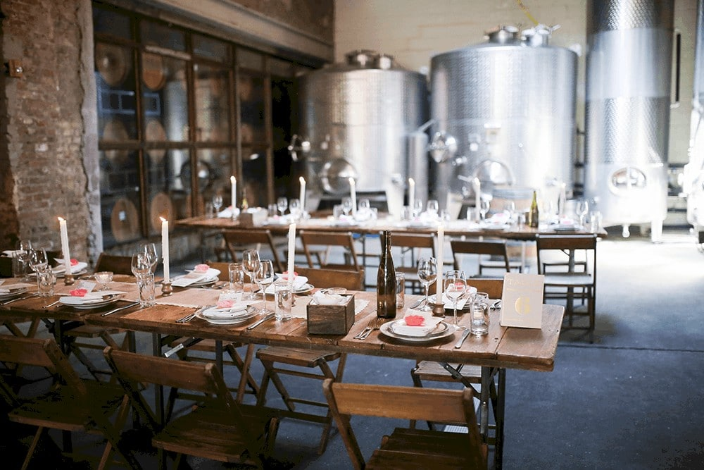 Brooklyn Winery daylight ceremony