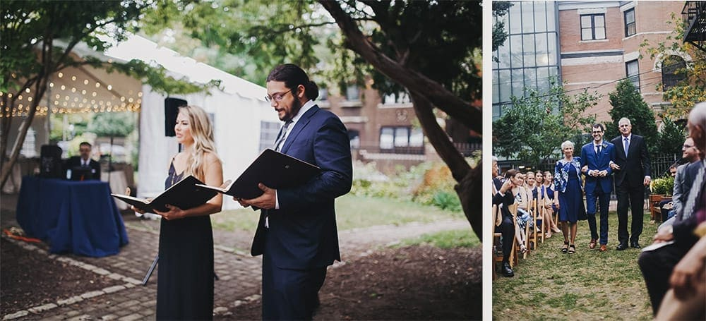 outdoor ceremony at the Brooklyn Society for Ethical Culture Brooklyn