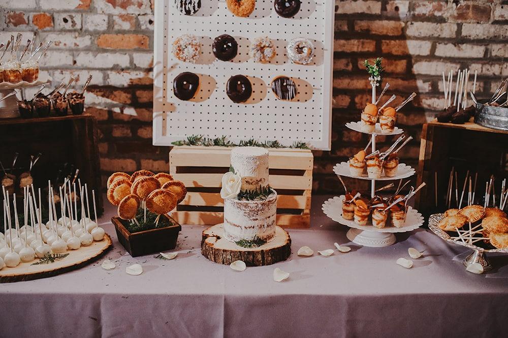 Fall wedding at garner arts center