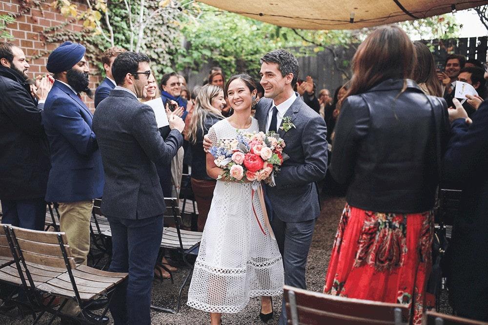 wedding ceremony at frankies 457 brooklyn