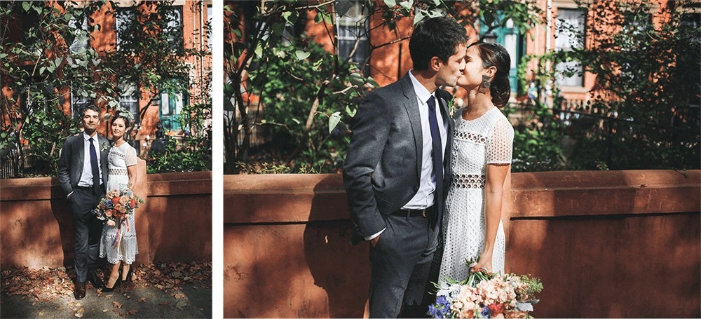 wedding portraits around frankies spuntino brooklyn