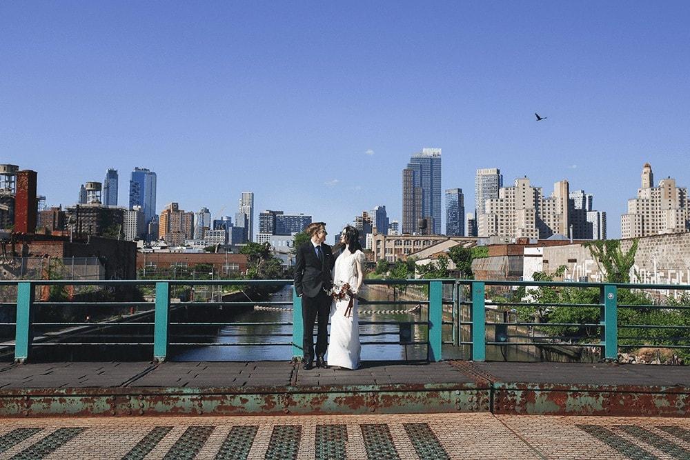 wedding portraits in gowanus brooklyn