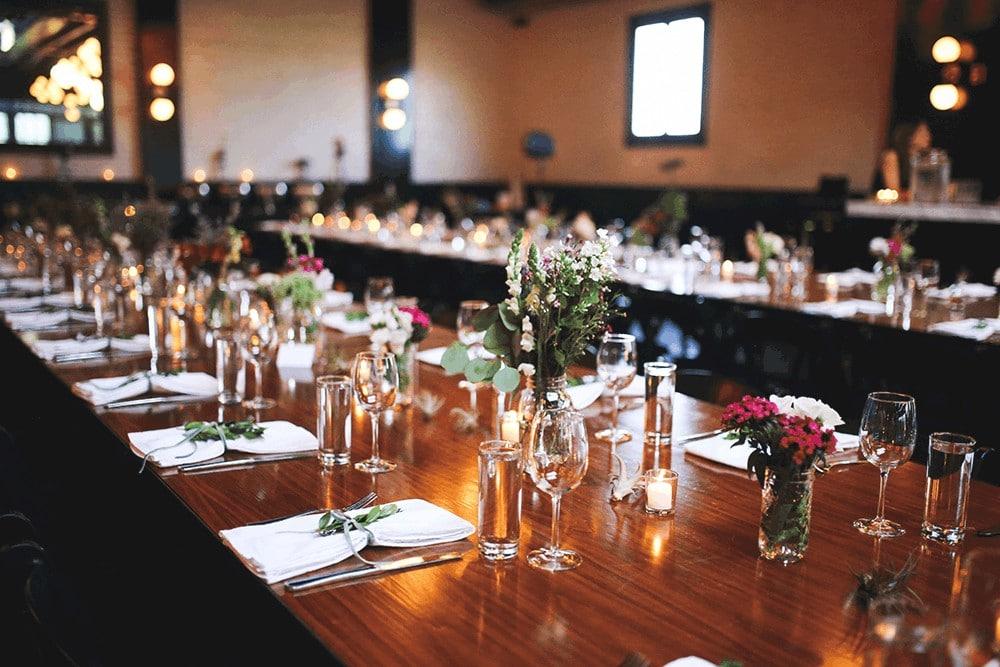 wedding details at 501 union
