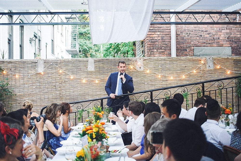 wedding at bacchus restaurant in brooklyn