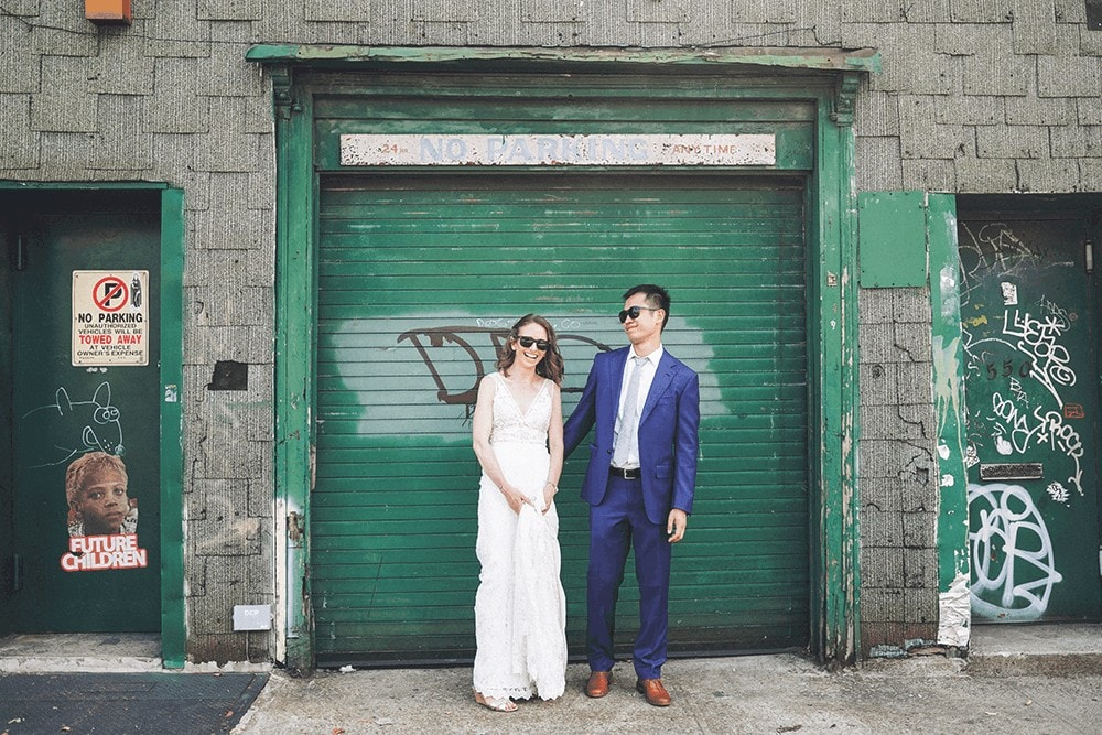 wedding portraits around gowanus