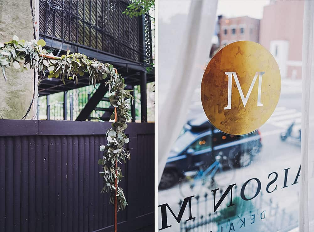 Stylish DIY wedding at Maison May
