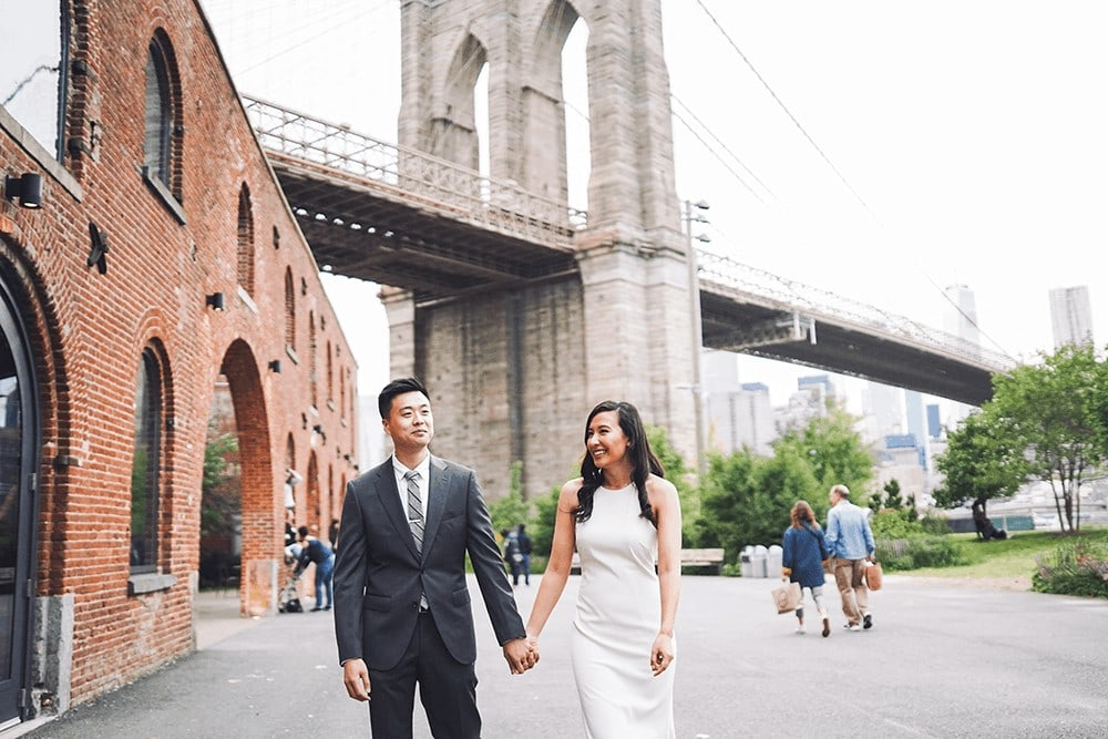 cloudy dumbo engagement shoot