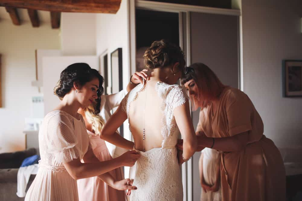 french wedding in the countryside
