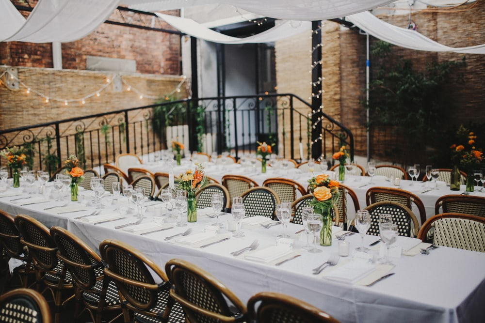 intimate wedding at Bacchus Bistro, Brooklyn