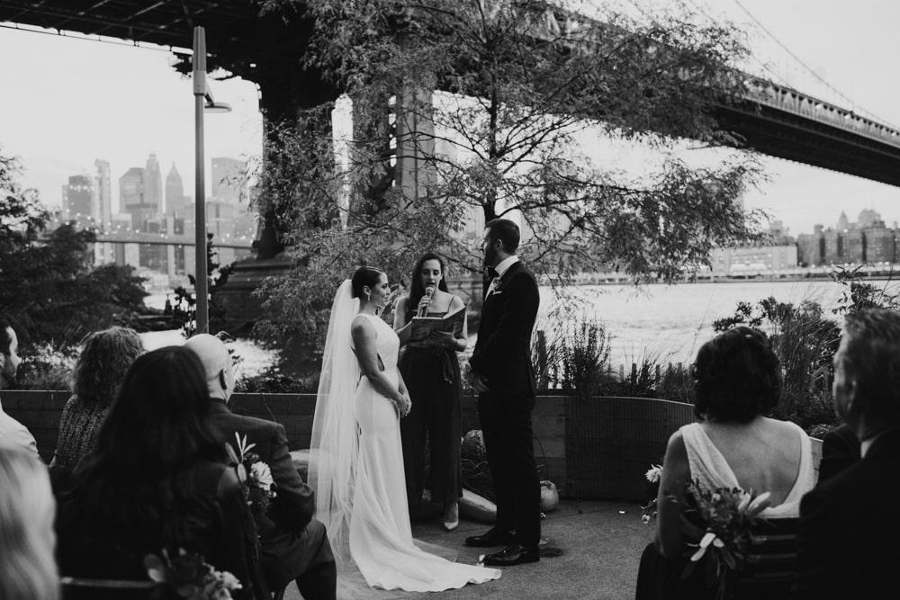 intimate wedding at Celestine, Brooklyn
