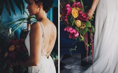 A MINIMALIST, GEM-LOVING INDUSTRIAL STYLED WEDDING SHOOT