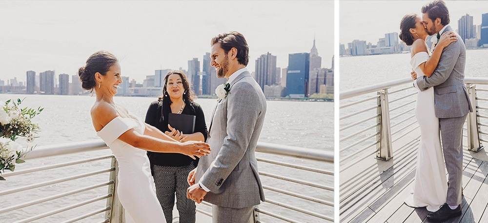 intimate wedding at Gantry State Plaza
