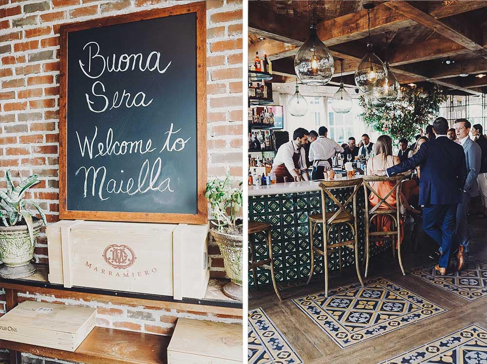 intimate wedding at Maiella in Queens, NY