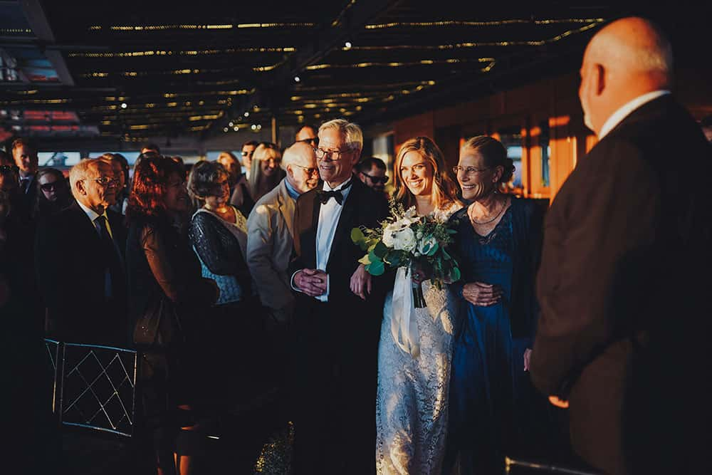Fall wedding at Sunset Terrace at Chelsea Piers
