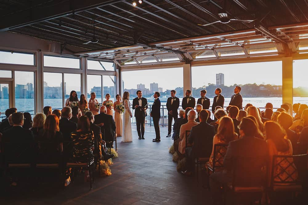 A FALL WEDDING AT SUNSET TERRACE AT CHELSEA PIERS