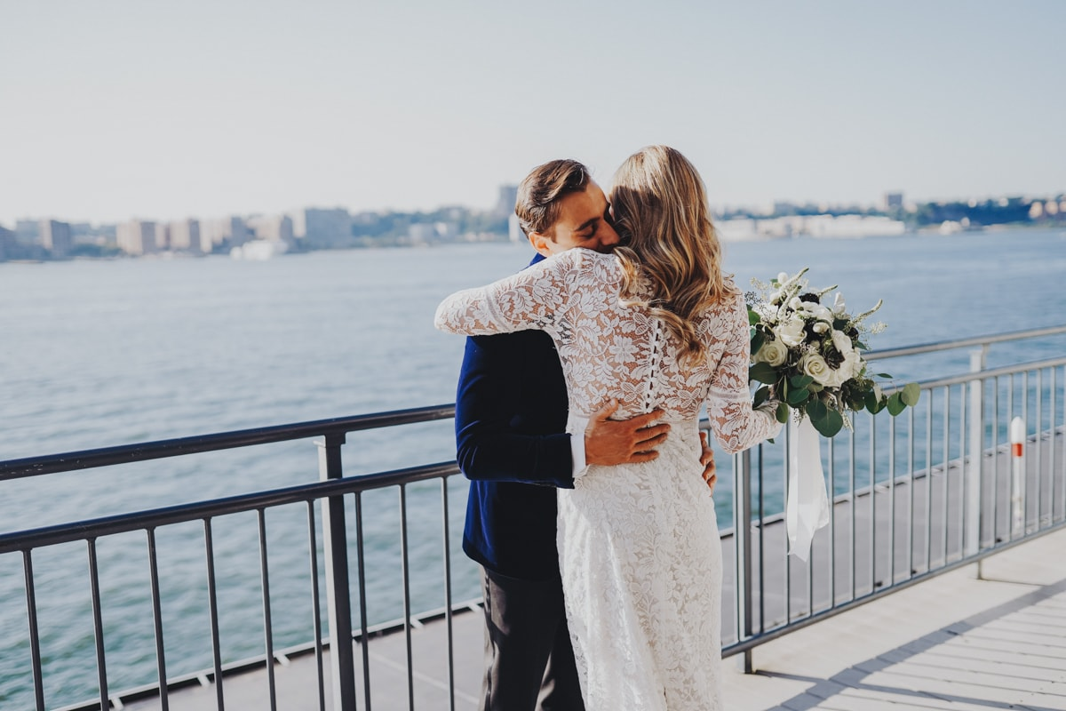 sunset terrace chelsea piers wedding