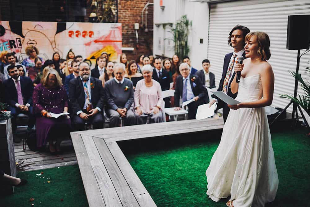 unique wedding at Freehold, Williamsburg Brooklyn