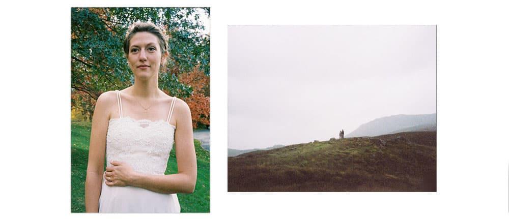 wedding photos shot with film