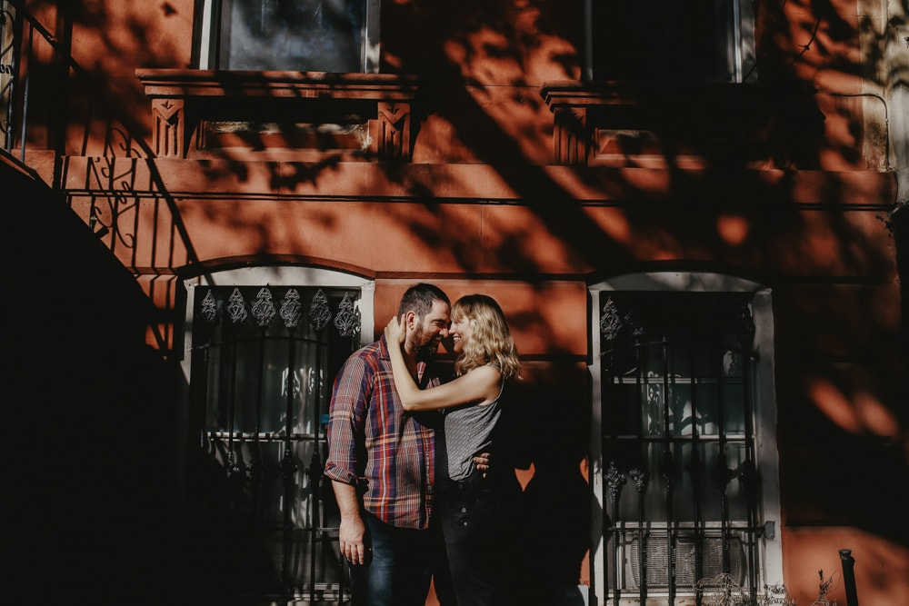 home engagement shoot