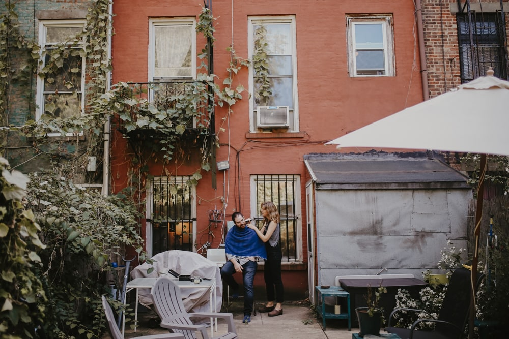 home engagement shoot in brooklyn