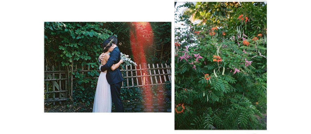 analog 35mm wedding photos