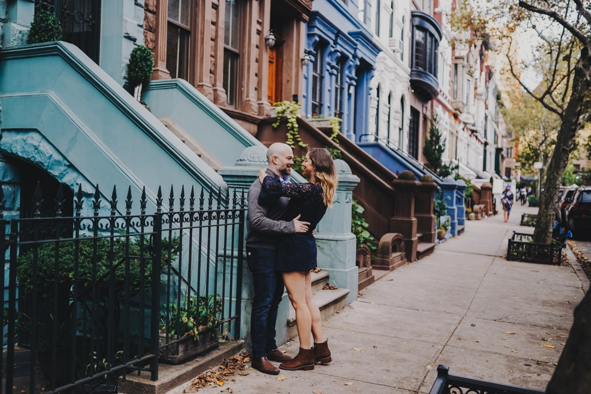 fun engagement shoot location idea in New York