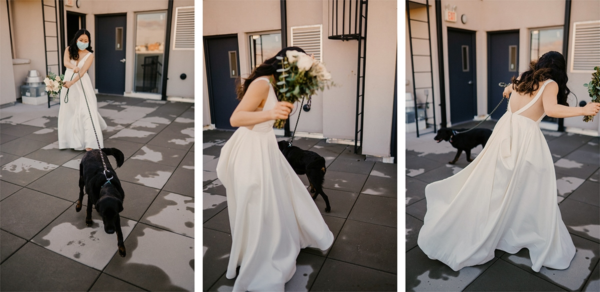 micro wedding in Brooklyn with a Zoom ceremony