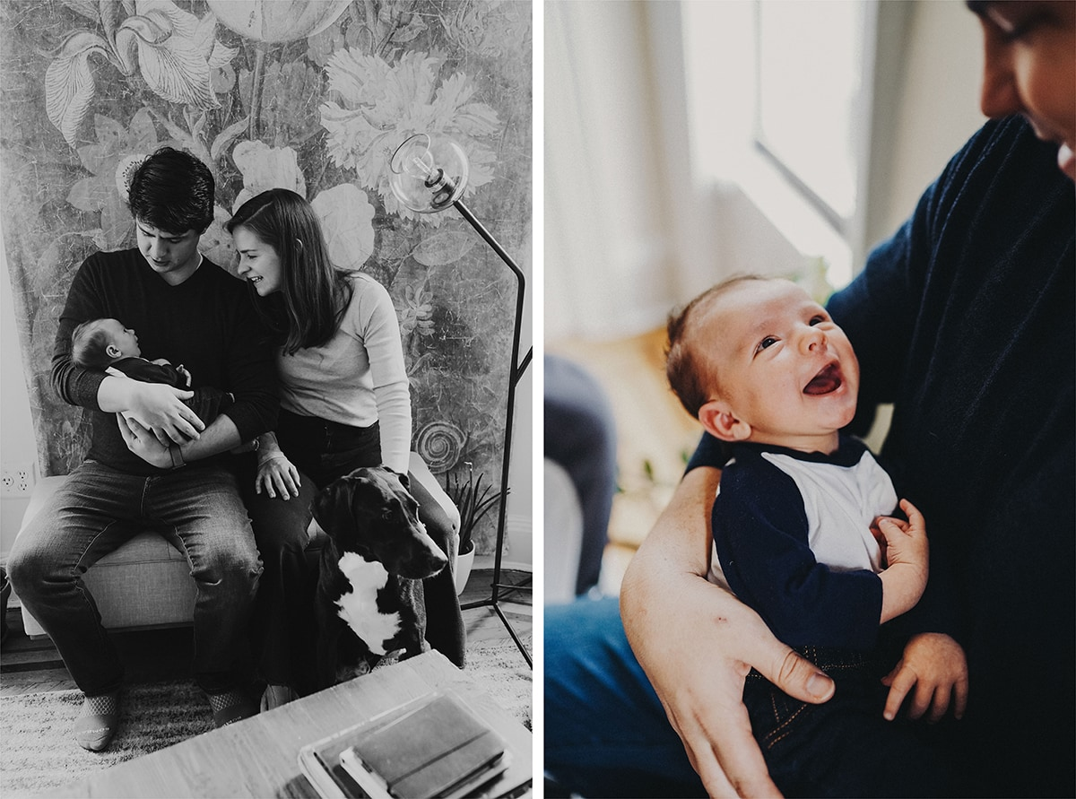 newborn photo session at home in brooklyn